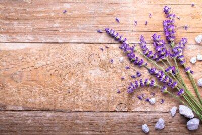 Adesivo Lavender na madeira