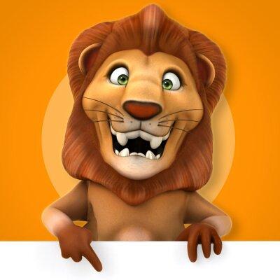 Adesivo Leão divertido