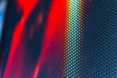 Adesivo LED de parede de vídeo com alto padrão saturado