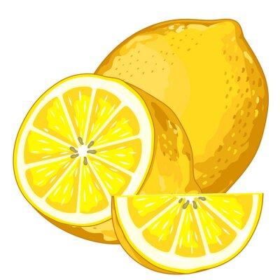 Adesivo Limão isolado no fundo branco.
