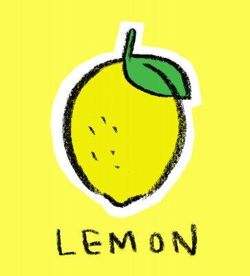 Adesivo Limão no fundo amarelo