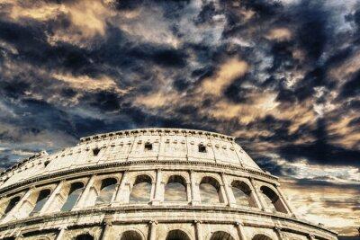 Adesivo Lindo céu acima Coliseu em Roma