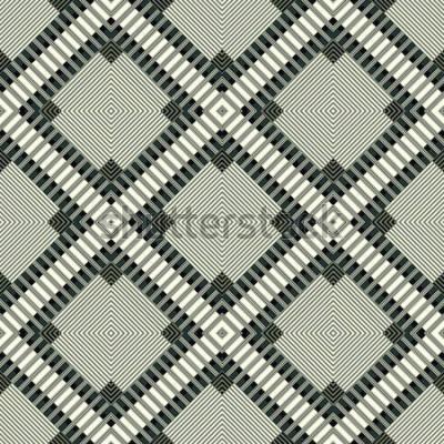 Adesivo linhas escuras e polígonos fundo geométrico sem costura padrão ilustração
