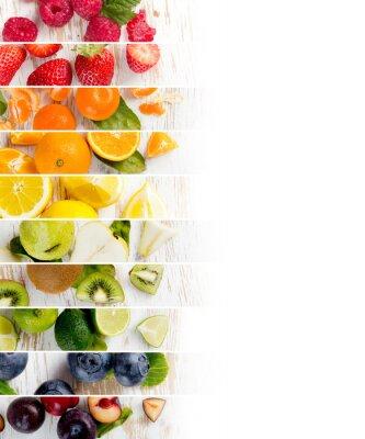 Adesivo Listras da mistura de fruta
