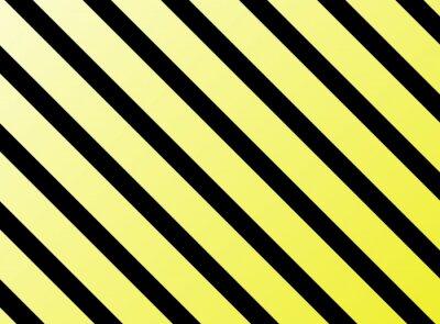 Adesivo Listras diagonais preto e amarelo