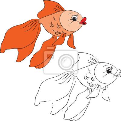 Livro De Colorir Peixinho Dos Desenhos Animados Ilustracao
