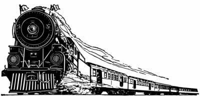 Adesivo Locomotiva a Vapor