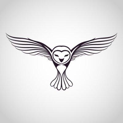 Adesivo logotipo da coruja