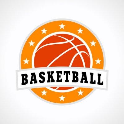 Adesivo Logotipo do emblema de basquete
