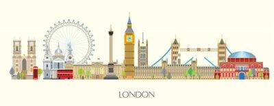 Adesivo London skyline vector 7