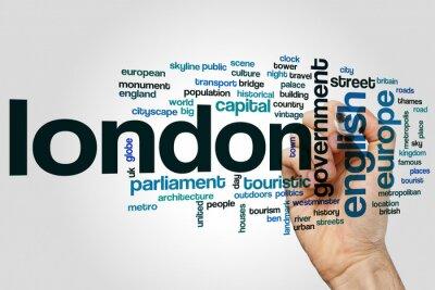 Adesivo Londres, palavra, nuvem