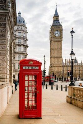 Adesivo Londres, telefone, cabine, grande, Ben