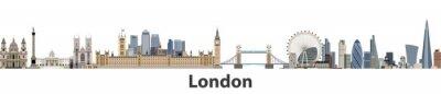 Adesivo Londres, vetor, cidade, skyline