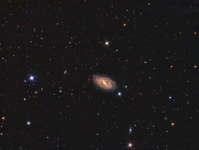 Adesivo M109 Galaxy imaged com um telescópio e uma câmera científica CCD