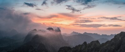 Adesivo Majestoso, pôr do sol, montanha