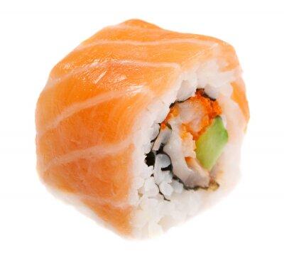 Adesivo Maki sushi isolado no fundo branco