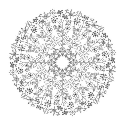 Adesivo Mandala de ervas