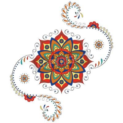 Adesivo Mandala lótus hindu