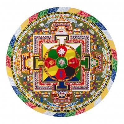 Adesivo Mandala tibetana