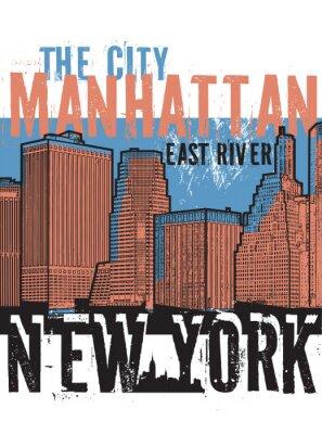 Adesivo Manhattan, Nova Iorque