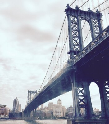 Adesivo Manhattan, ponte, Rio, estilo, Novo, York