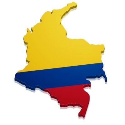Adesivo Mapa Colômbia