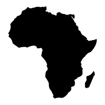 Adesivo Mapa da África