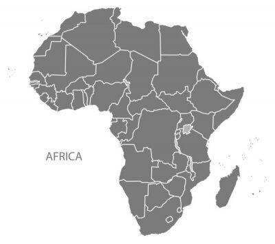 Adesivo Mapa da África com os países cinza