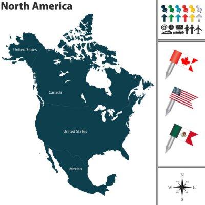 Adesivo Mapa da América do Norte