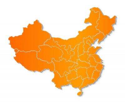 Adesivo Mapa de China