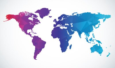 Adesivo Mapa de mundo abstrato