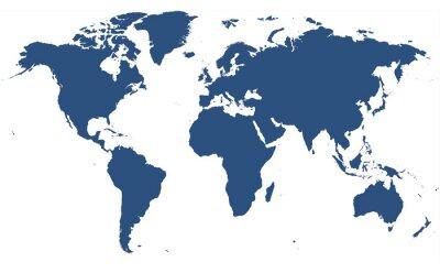 Adesivo mapa do mundo