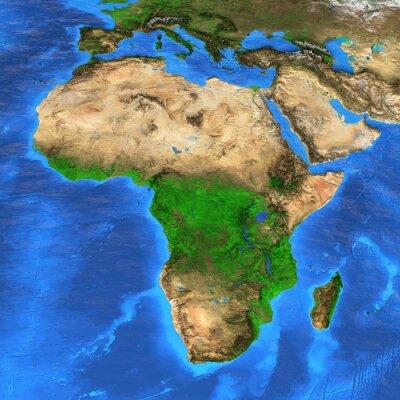 Adesivo Mapa do mundo de alta resolução focado em África
