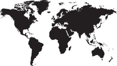 Adesivo Mapa do mundo isolado no fundo branco