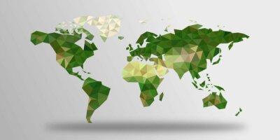 Adesivo Mapa do mundo polígonos