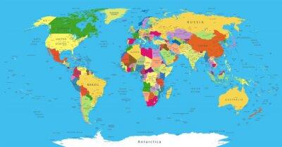 Adesivo Mapa do mundo político