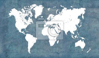 Adesivo Mapa do mundo, vintage