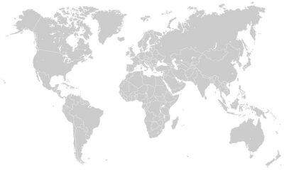 Adesivo Mapa do Site - Hellgrau (hoher Detailgrad)