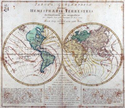 Adesivo Mapa do vintage