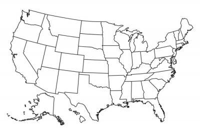 Adesivo Mapa dos EUA
