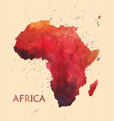 Adesivo Mapa estilizado da África.