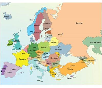Adesivo Mapa Europeu.