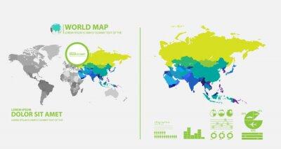 Adesivo mapa infográfico