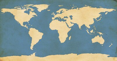 Adesivo Mapa Mundi Envelhecido