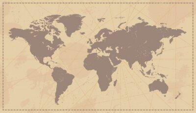 Adesivo Mapa Mundi Vintage Velho