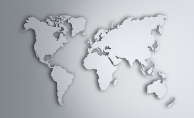 Adesivo Mapa mundial. Imagem com trajeto de grampeamento