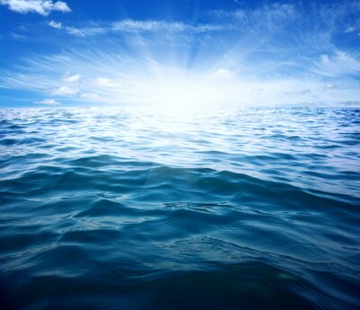Adesivo Mar azul e sol