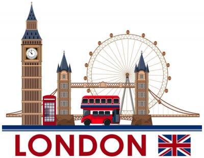 Adesivo Marco de Londres em fundo branco