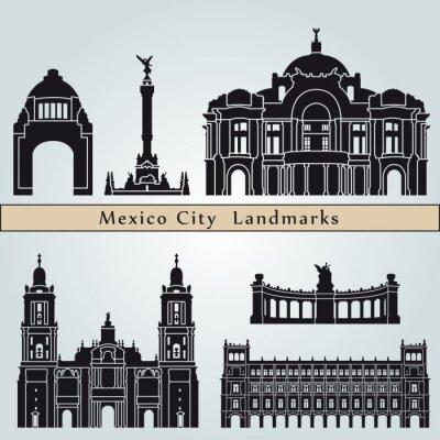 Adesivo Marcos e monumentos da Cidade do México