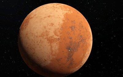 Adesivo Mars Ilustração científica - paisagem planetária